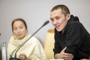 один из героев книги, ханты Александр Айпин