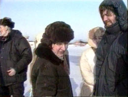 Ева Шмидт и Дъёрдь Халми в Югре. 90-е годы. Из архива Дъёрдя Халми