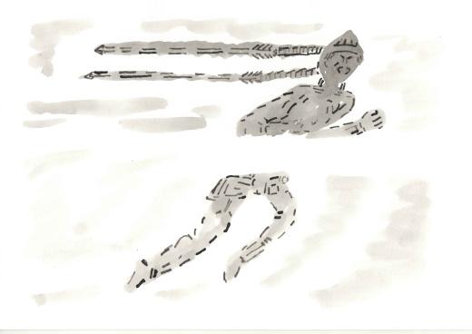 Рисунок Косы как стрелы