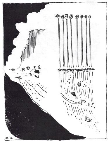 «Время рождает и разрушает». Рисунок Г. С. Райшева, 1996 год.