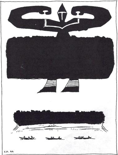 «Народ канонизирует героя». Рисунок Г.С. Райшева, 1996 год.